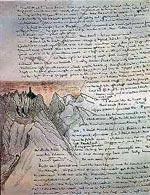 Фрагмент рукописи «Властелина Колец»