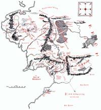 Запад Средиземья в конце третьей эпохи