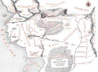 Карта Белерианда